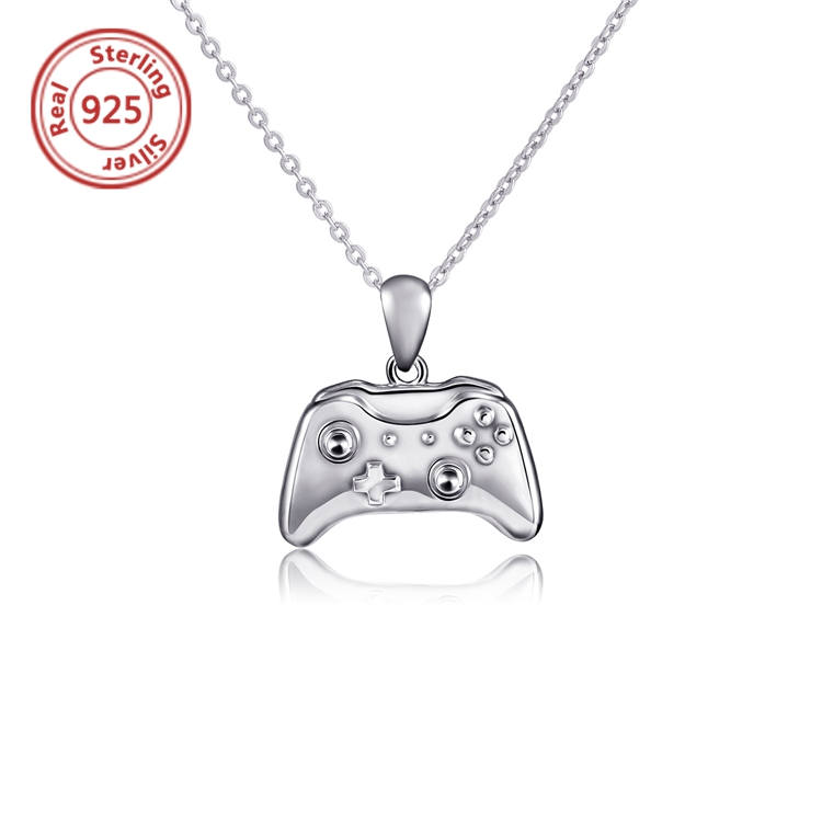 925 silver plated Gold/Rose Gold/White Gold Video Games Controller Necklace pendant for child jewelry