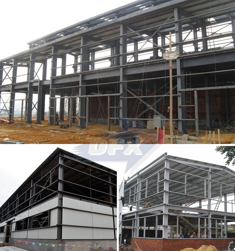 Pre Engineering Fabricated Light Type Steel Structure Building