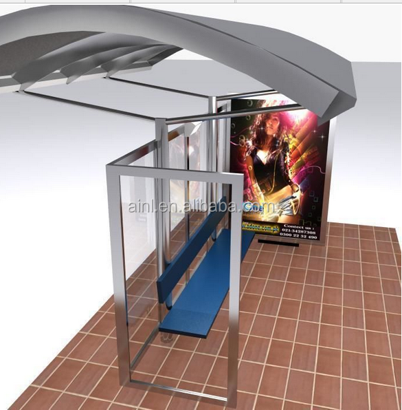 modern bus shelter with scrolling system hot sale