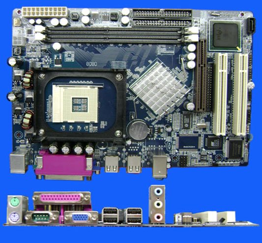 PC motherboard 865GV-478 for Intel865GV+82801EB(ICH5)