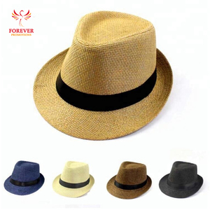 32f78b6c3b0 Wholesale Custom Fedora Hat Classic Jazz Hand Made Paper Straw Hat Printed  Your Custom Logo