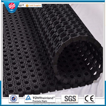Perforated Rubber Floor Mats,Modular Drainage Kitchen Safety Mat ...