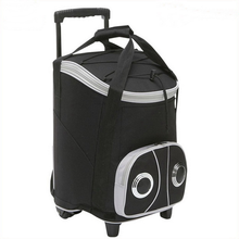 Waterproof picnic cooler bag for frozen food insulated rolling cooler/lunch bag with speaker