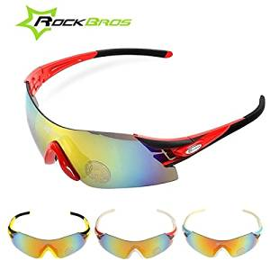 53513e344f Get Quotations · (Random Color) RockBros Polarized UV400 Bike Cycling  Bicycle Sunglasses Glasses   RockBros Polarized UV400