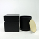 Classic matte black candle jar daily decorative glass candle jar with copper lid