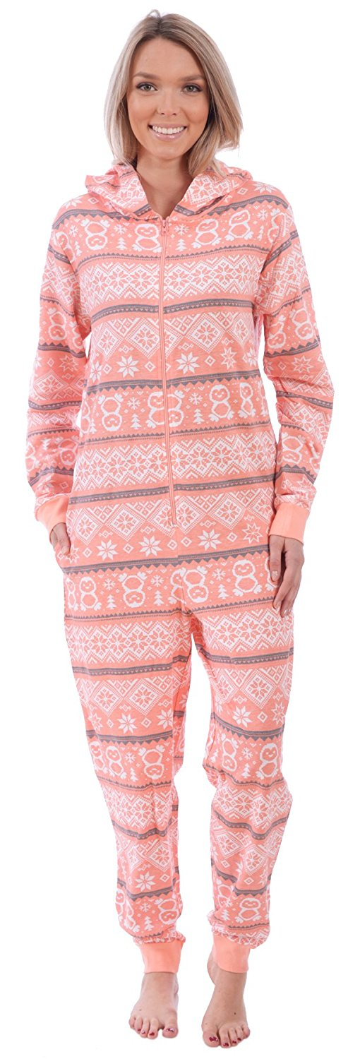 356e0a161b Get Quotations · Body Candy Women s Graphic Adult Knit Hooded Onesie Pajama