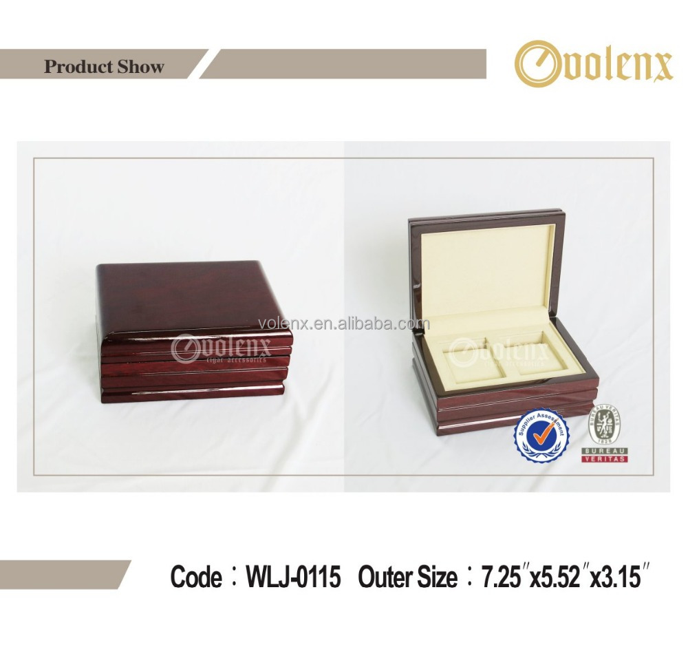 Solid Wood Clear Red Piano Lacquer Watch Box