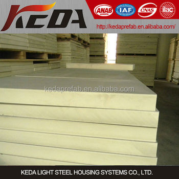50mm thermal insulation polyurethane pu sandwich panel for Quick therm insulation cost