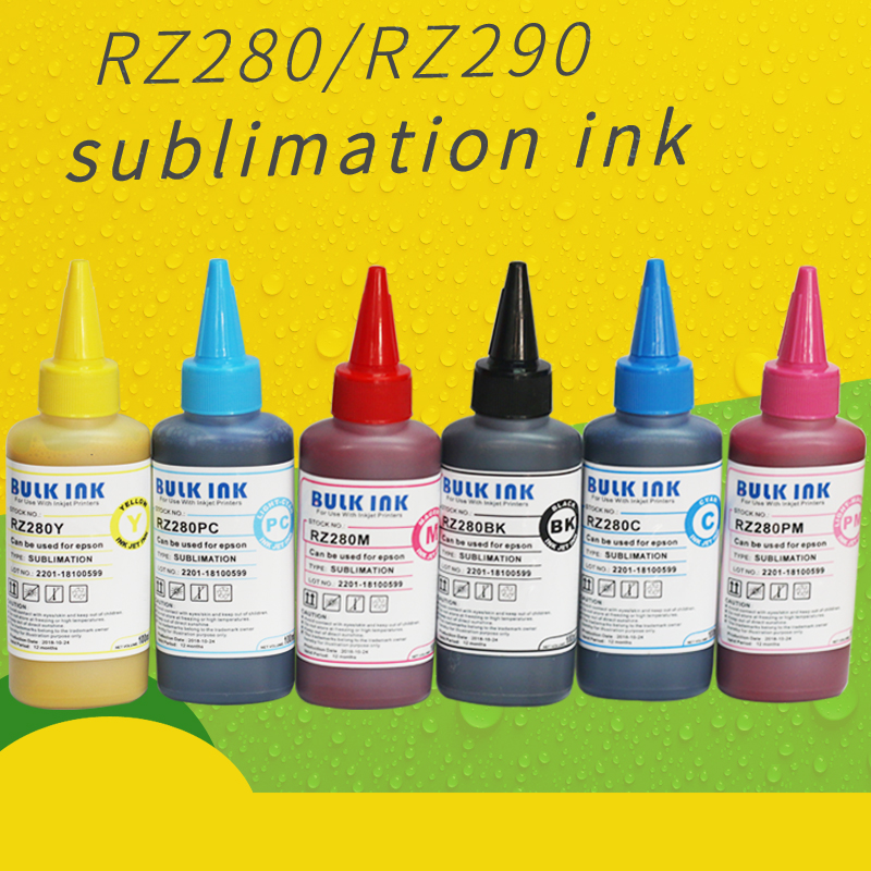 Hohe qualität dye 100 ml Inkjet sublimation tinte für A4 A3 sublimation tinte 4 oder 6 farbe Druck Tinte