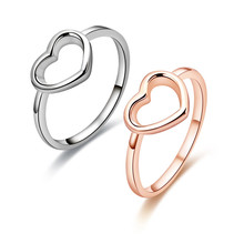 Nieuwe Mode Rose Goud Kleur Heart Shaped Wedding <span class=keywords><strong>Ring</strong></span> voor Vrouw Dropshipping NS91125