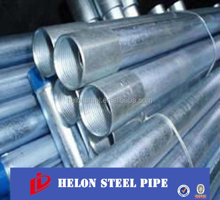 Galvanizado en caliente de tubos de acero tubo redondo de - Tubo redondo acero ...