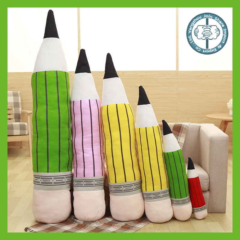Hot selling stuffed toy colorful plush pencil cushion for adult