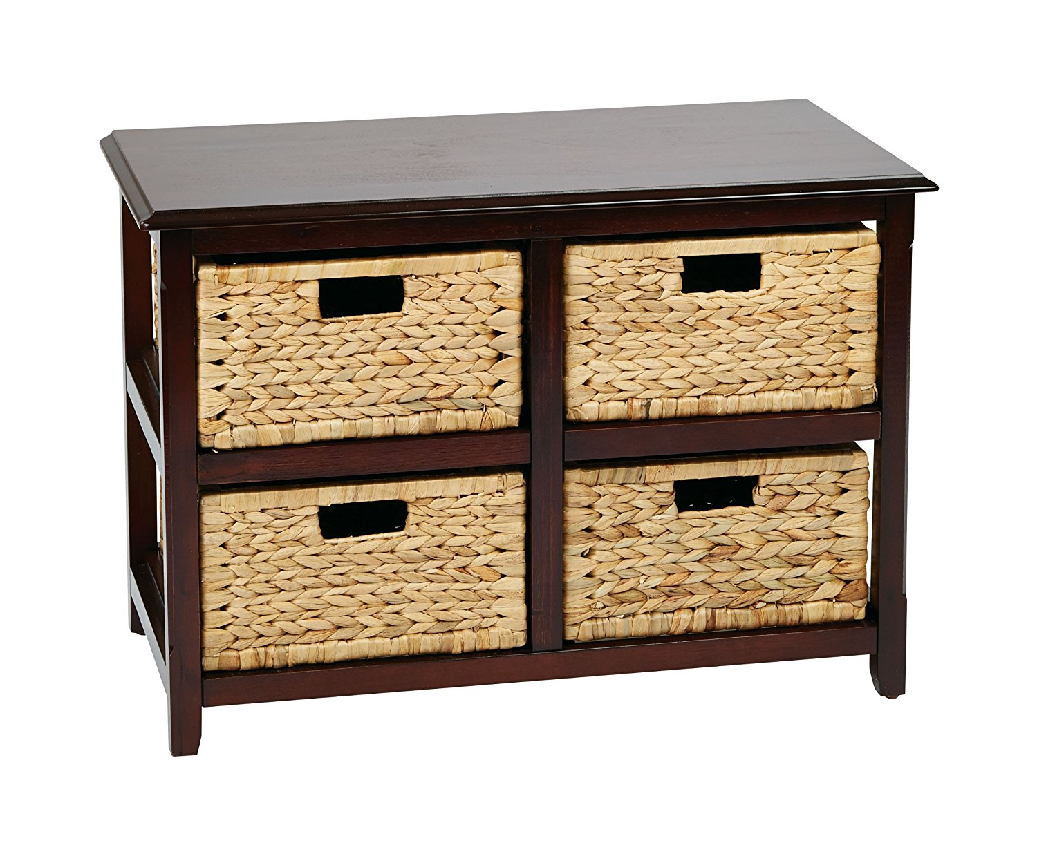 Get Quotations · Office Star Seabrook 2 Tier, 4 Drawer Storage Unit With  Natural Baskets,