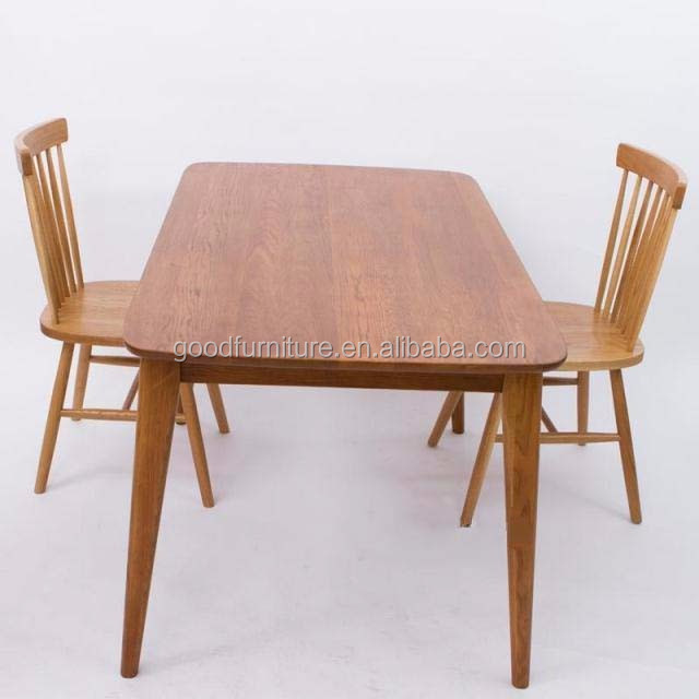 solid oak wood rectangle dining table wooden table home furniture
