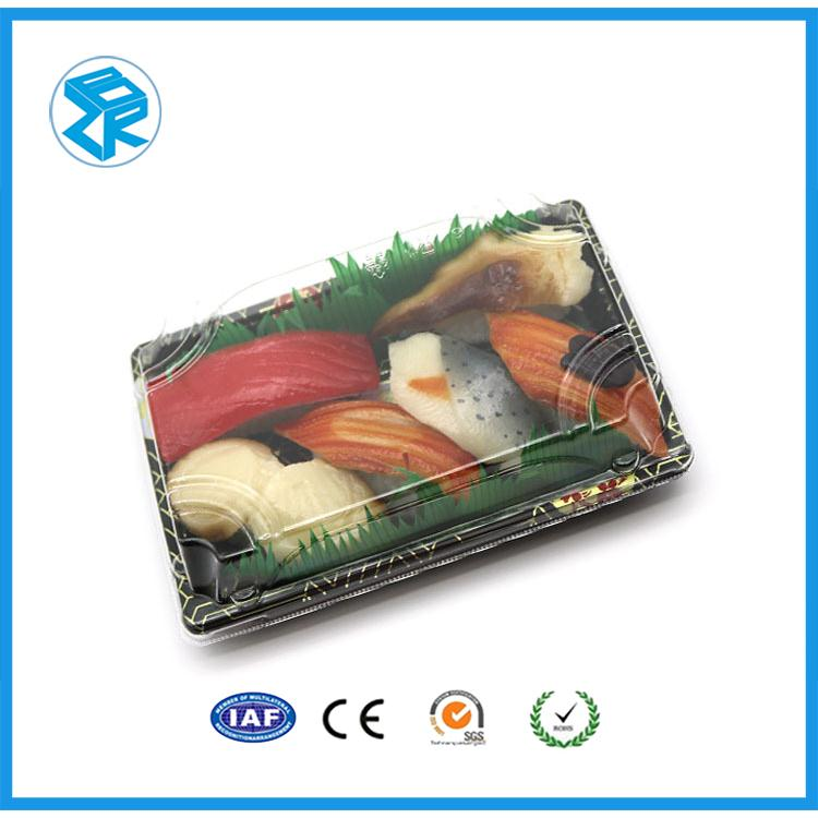 Factory Price Elegant Takeaway Square 5 Compartments Sushi Tray