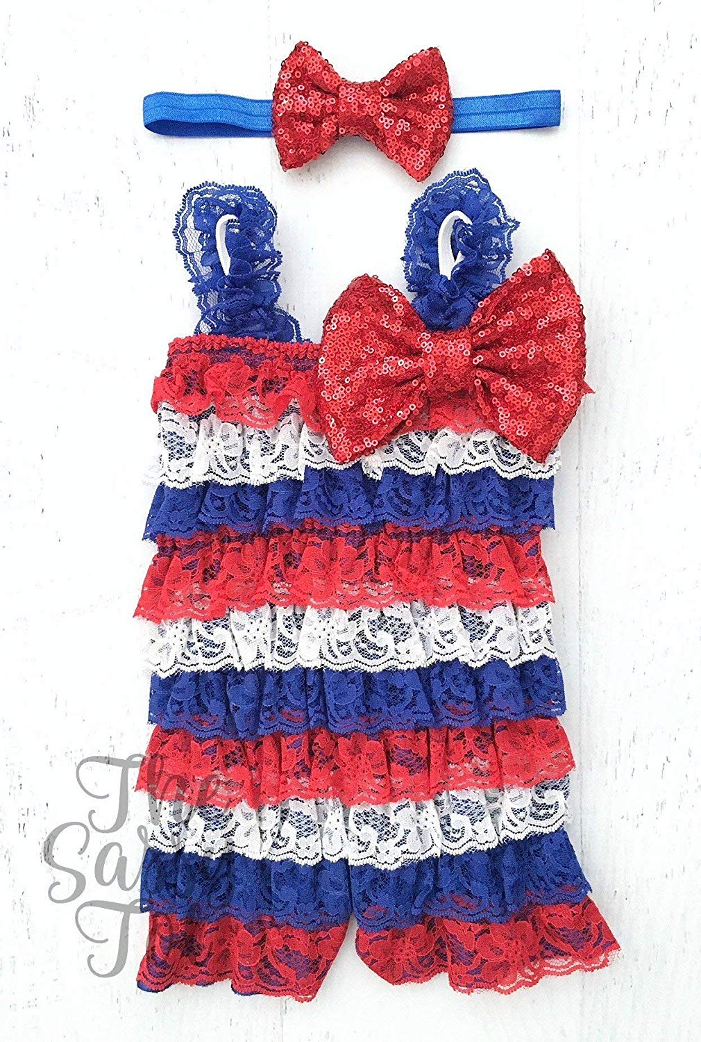 553e083b0ee6 ... red white and blue. Get Quotations · 4th of July Baby Outfit