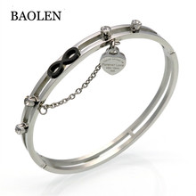 New Luxury Brand Jewelry European Gold Love Heart Charm Bracelet Carter Black Infinity Women Bracelets & Bangles Crystal Pulsera