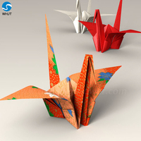 Wholesale wedding stage decoration handmade paper flowers origami crane