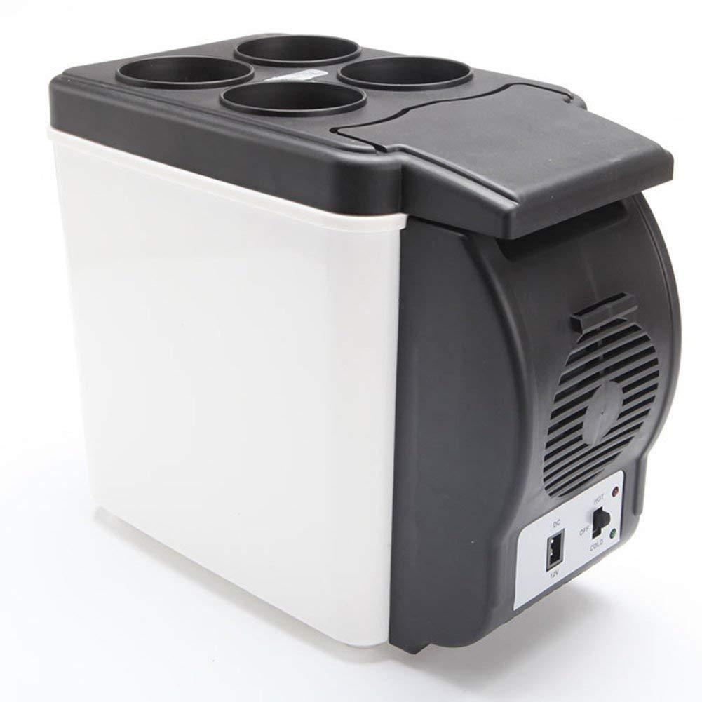 SL&BX Mini Kühlteil,Car Refrigerator 6l Refrigerator Cooler Mini Refrigerator Black And White Mini Fridge Portable Fridge