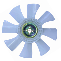 plastic fan blade cooling for electric motor