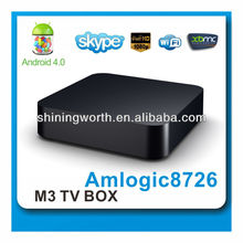 Amlogic 8726 M3 Android Smart TV Box,Support IPTV,Youtube,XBMC apps