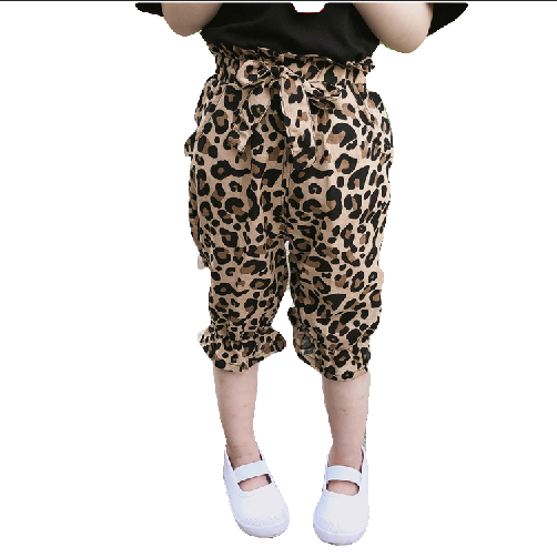 Kids 2019 Summer Wholesale Children's Cute Breathes Anti-mosquito Pants Leopard Print For 1-7Y Girls фото