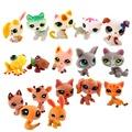 New 20 PCS lot MINI Lot Littlest Pet Shop Cute Cat Loose Action Figure Toys Funko