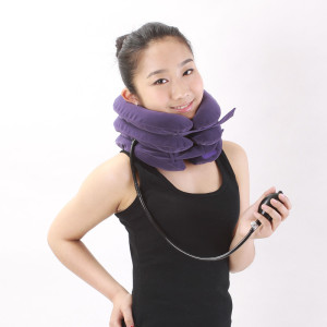 CERVICAL NECK TRACTION DEVICE INFLATABLE & ADJUSTABLE NECK STRETCHER COLLAR FOR HOME TRACTION PILLOW SPINE ALIGNMENT