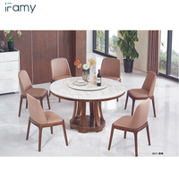 Nordic style dining room furniture set dining tables and chairs set of 6 seater