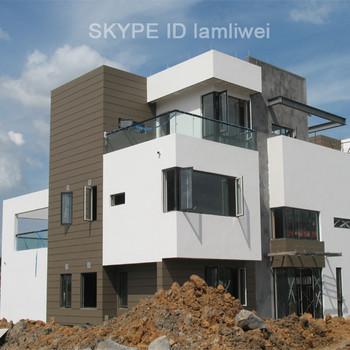 China modern european style villa prefab kit house modular for Precast concrete home kits