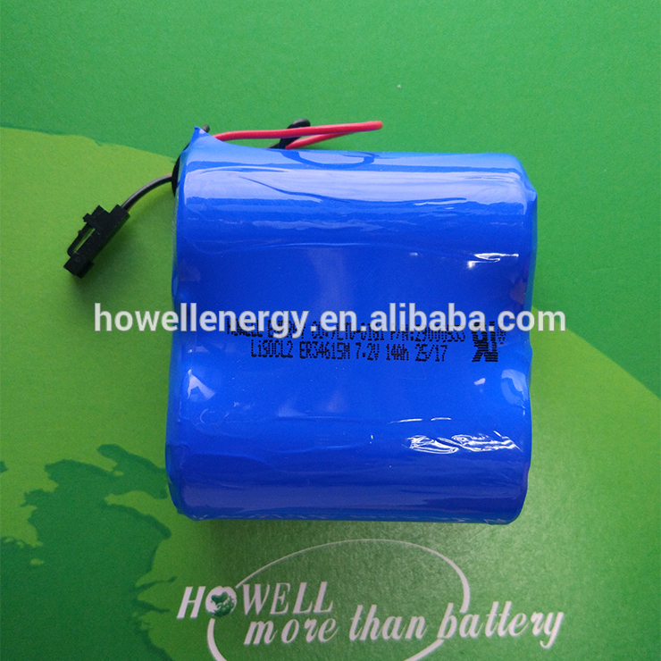 Howell HWE High quality 3.6V 1800mAh ER17335 lithium battery 2/3A size for GPS, meters, medical