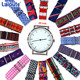 Nato Straps 20mm Nylon WatchBand NO MOQ Silver Pin Design Print Patterns Nato Watch Band Bulk Nato Watch Strap