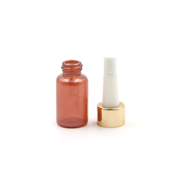 luxury cosmetic packaging 5ml 10ml 15ml red essential oil  glass bottle trumpet head  facial care bottle