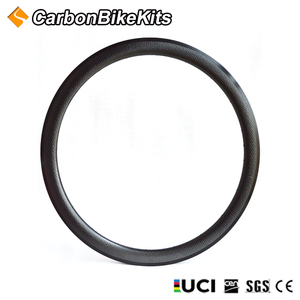 Customized CBK high quality T700 road bicycle full carbon rim 18 holes 700c dimpled 45mm deep tubular