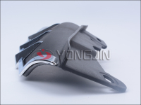 Factory provide fashionable mid frame window deflector with chrome trim for harley motorcycle
