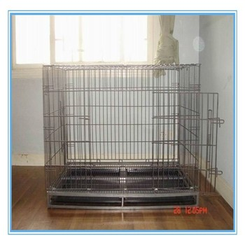 iso wire folding pet crate dog cage aluminum dog crate cheap dog crate