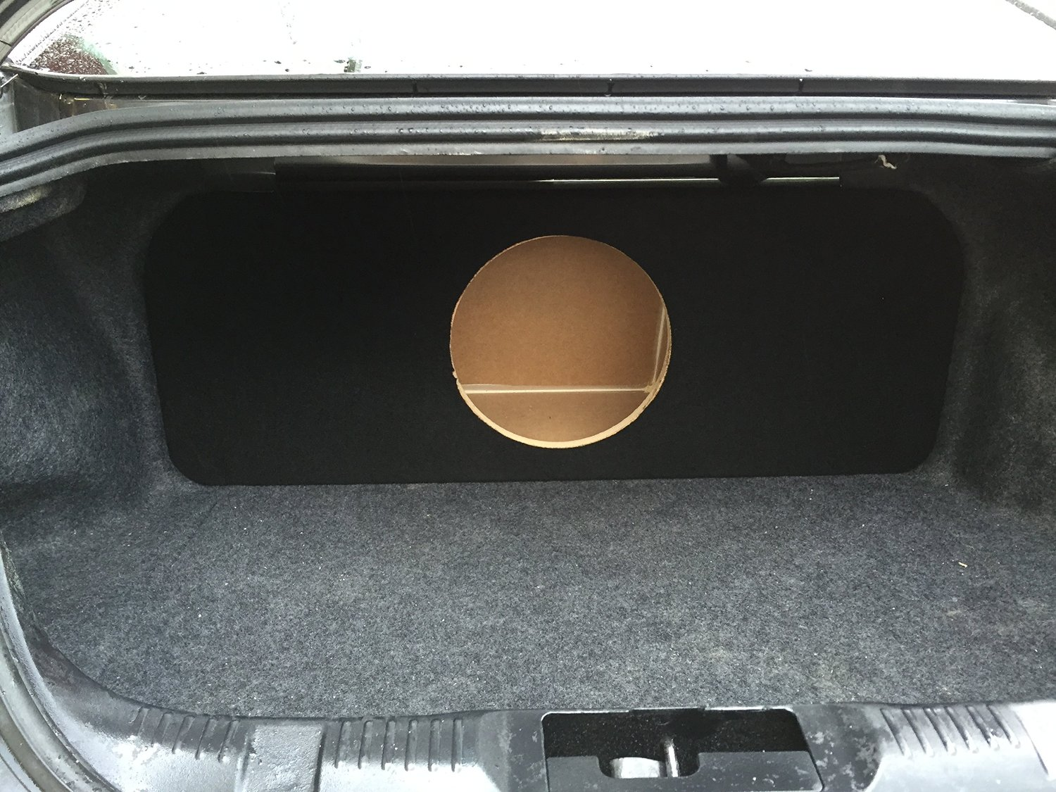 "Zenclosures 2015-2016 Mustang 1-10"" Subwoofer Box Rear Fire - BLACK, Version 1"