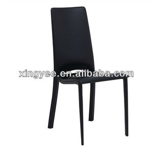 Modern dining room furniture homes PVC genuine leather dining table and chairs set