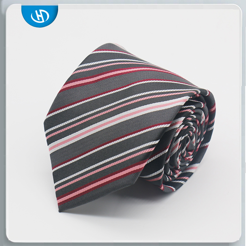 Custom Men's Silk Ties Cheap Alabama China High Quality Striped Necktie With clip
