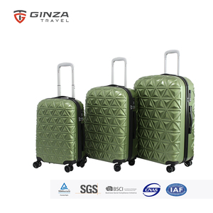 Traveler's Choice GINZA TRAVEL 8-Wheel Spinner Lightweight Luggage With Diamond Cut Texture