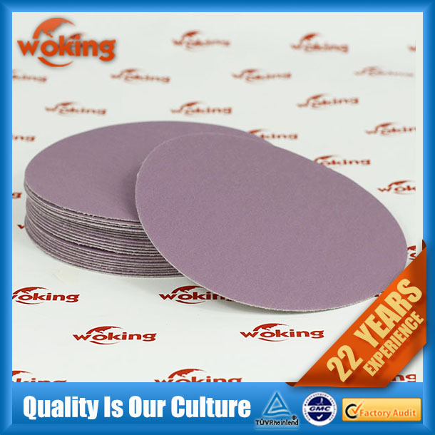 Purple sandpaper discs for polishing