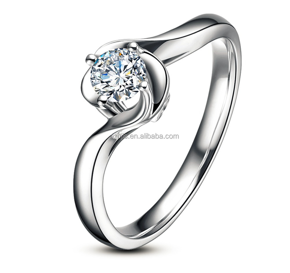Wholesale fashion silver ring with diamond