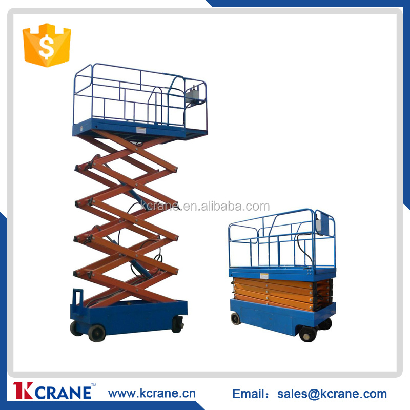SJY series hydraulic lift platform, lift table with wheels