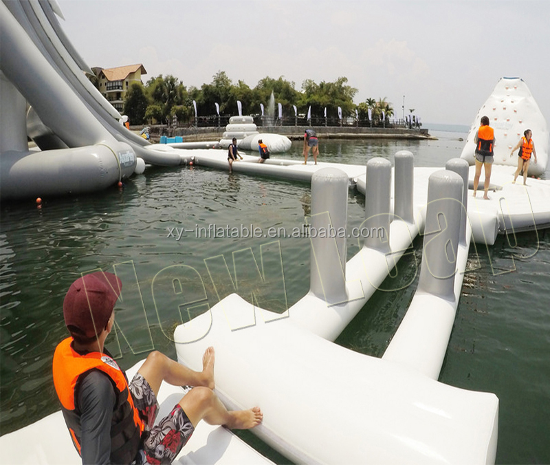 Commercial Floating  Water Park Slide Games / Inflatable Water Park Equipment