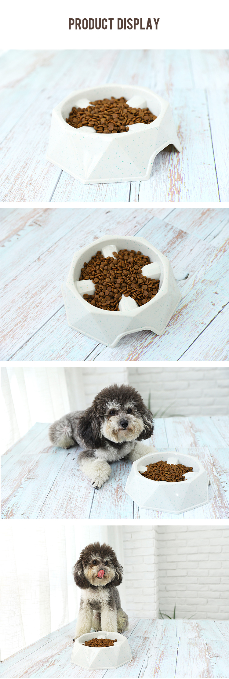Economical Custom Design Slow Eating  Feeder Dog Bowl