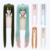 Vocaloid Miku Cosplay Wig 120cm Long Straight Anime Hair Wig Synthetic Cosplay Costume Wig With Two Ponytails