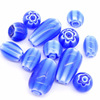 wholesale handmade Murano Lampwork blue millefiori Loose glass beads