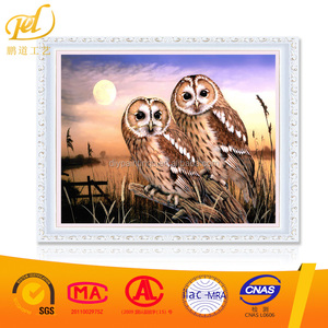 Two Owls Diy 5d Diamond Painting Fabric Handicrafts Crystal Painting Resin Artwork Shinny Beads MQ182