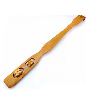 bamboo hand held massager back scratcher