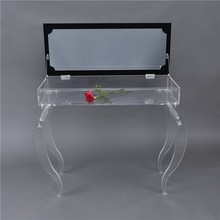 acrylic dressing table and bed with full-length mirrors